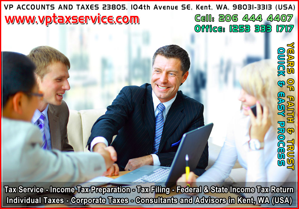 tax filing service in renton income tax filing in auburn tax return advisors in tukwila taxes service in des moines kent wa seattle usa