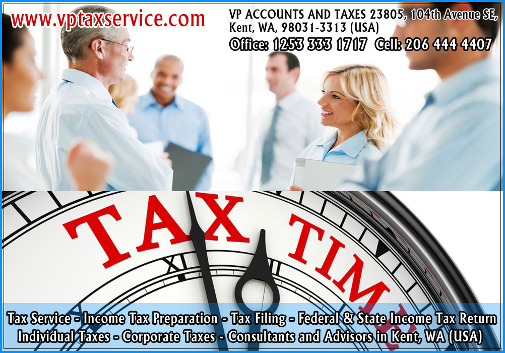 individual tax return filing service individual tax refund advisors in kent wa seattle usa