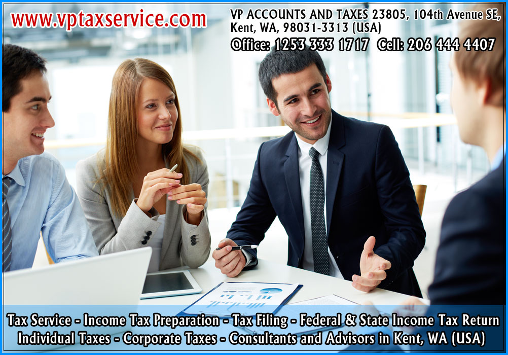 kent tax service kent tax advisors kent wa tax filing consultants kent tax and business services wa seattle usa